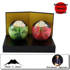 Kokeshi Couples  Shiawasehina Set (4cm)