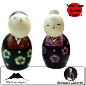 Kokeshi Couples  Tomoshiraga (12cm)