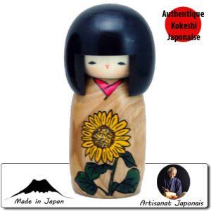 Kokeshi Jeunes filles  Himawari - Story Of Flower (14cm)