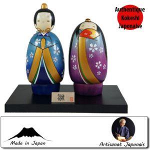 Kokeshi Couples  Hananomichihina Set (15cm)