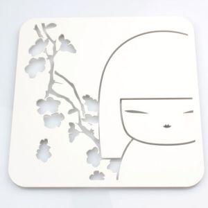 Kimmidoll Accessoires   Dessous De Plat Carr� En M�tal Kimmidoll Blanc