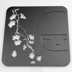 Kimmidoll Accessoires   Dessous De Plat Carr� En M�tal Kimmidoll Noir