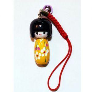 Kokeshi Chinoise Strap Kokeshi Jaune (3cm)