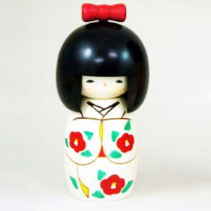 Kokeshi Jeunes filles (+ de 14 cm)  Ribon (15cm)