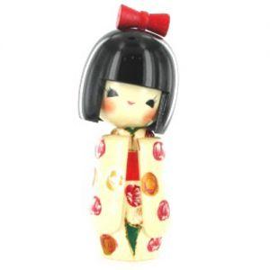 Kokeshi Jeunes filles (+ de 14 cm)  Otomesode White (15cm)
