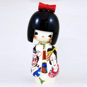 Kokeshi Jeunes filles (+ de 14 cm)  Kabukiekokeshi (15cm)