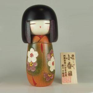 Kokeshi Jeunes filles (+ de 14 cm)  Balmy Autumn (16cm)