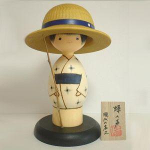 Kokeshi Jeunes filles (+ de 14 cm)  Semi Boy (20cm)