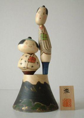 Kokeshi Jeunes filles (+ de 14 cm)  Tabi (27cm)