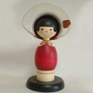 Kokeshi Jeunes filles (+ de 14 cm)  Memory Ribbon (23cm)