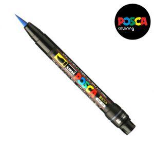 Posca 0,1-10mm (pinceau)  Pcf-350 Bleu Foncé