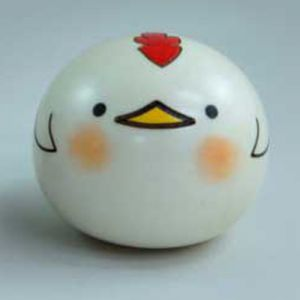 Kokeshi Animaux Yurakoro (S) Tori - Coq (5cm)