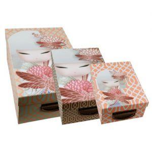 Kimmidoll Accessoires   Lot de 3 Boîtes de Rangement - Kazumi - Kimmidoll