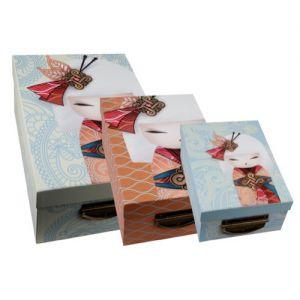 Kimmidoll Accessoires   Lot de 3 Boîtes de Rangement - Namika - Kimmidoll
