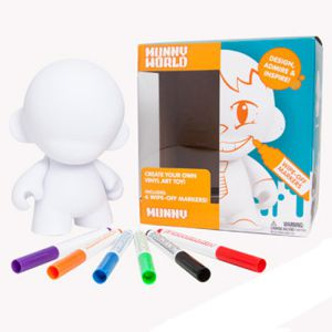 Munny World Mini Munny Blanc - Feutre Réutilisable (11cm)