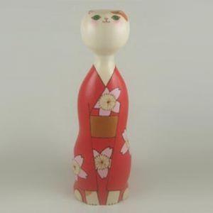 Kokeshi Animaux  Neko Komachi (21cm)