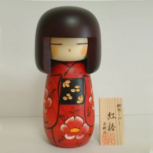 Kokeshi Jeunes filles (+ de 14 cm)  Camellia M (21cm)
