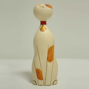 Kokeshi Animaux  Suzu Brown (21cm)