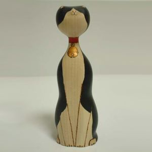 Kokeshi Animaux  Suzu Black and White (21cm)