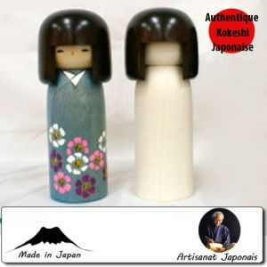 Kokeshi à Customiser  Modèle à Chevelure à Customiser(19cm)