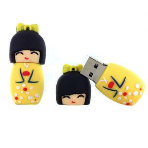 Kokeshi USB  Clé USB 32Go - Kokeshi Jaune