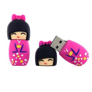 Kokeshi USB  Clé USB 32Go - Kokeshi Rose