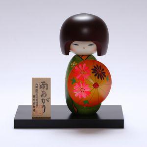 Kokeshi Jeunes filles (+ de 14 cm)  Ameagari Green (16cm)