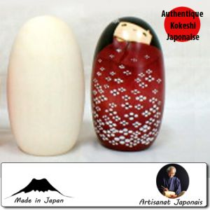Kokeshi à Customiser  Modèle Oval L à Customiser (13cm)