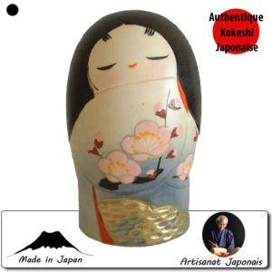 Kokeshi Jeunes filles (+ de 14 cm)  Ume Apricot L (19 Cm)