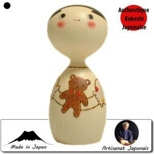 Kokeshi Enfants  Bitsy Bear / Nounours (11cm)