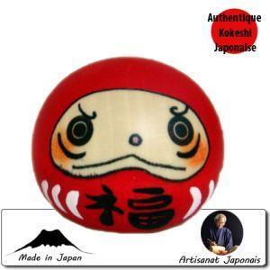 Kokeshi Ovales Kofuku Daruma Rouge(6cm)