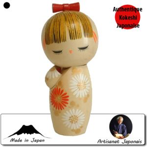 Kokeshi Jeunes filles (+ de 14 cm)  Chukka S (16cm)