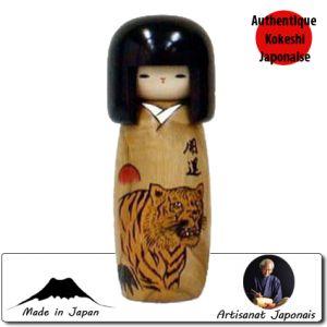 Kokeshi Horoscope  Kokeshi Porte-bonheur - Tigre - Taille S (19cm)